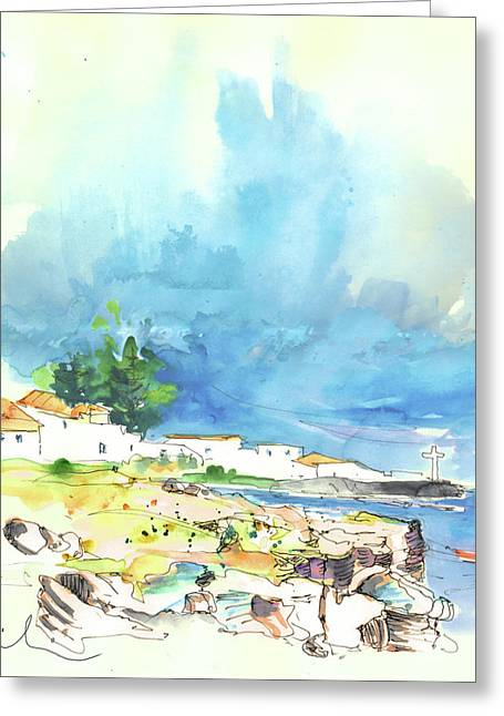 Peniche In Portugal 10 Greeting Card by Miki De Goodaboom