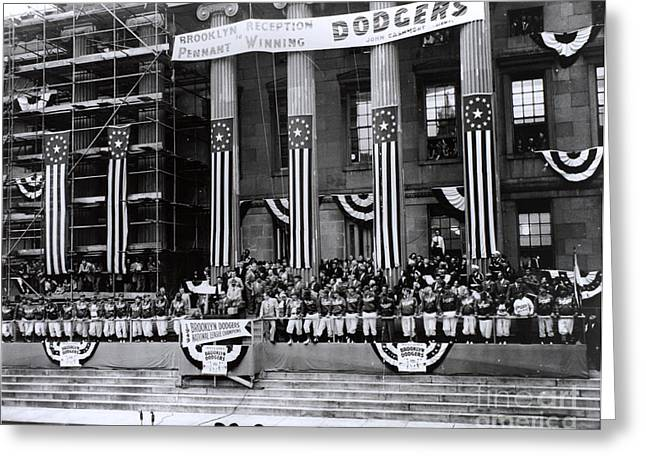 Pennant-winning Reception Greeting Card by Photo Researchers, Inc.