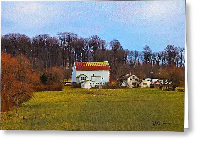 Pennsylvaina Farm Scene Greeting Card by Bill Cannon