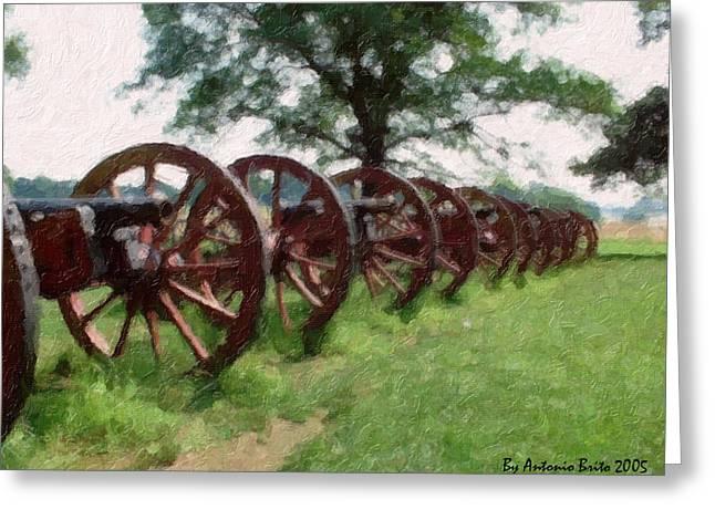 Pennsylvania's Confederate Cannon Greeting Card by Antonio Brito