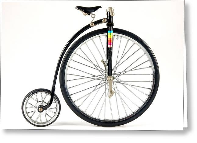 Penny Farthing Bike Model Greeting Card by Ralph Brannan