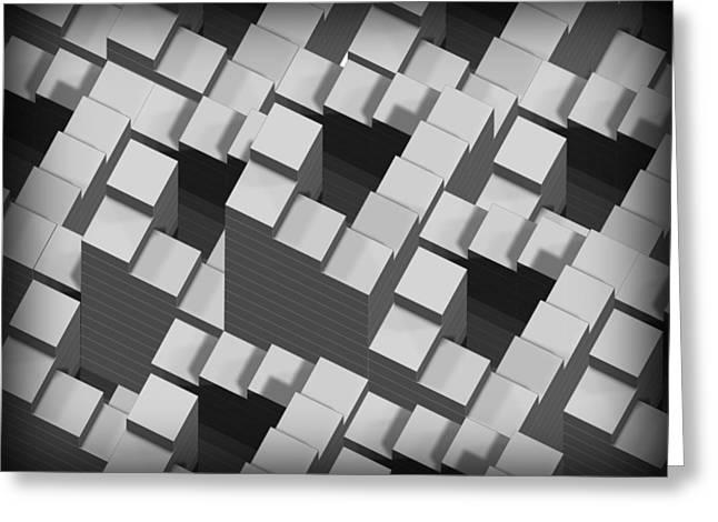 Penrose Stairs, Artwork Greeting Card by Claus Lunau