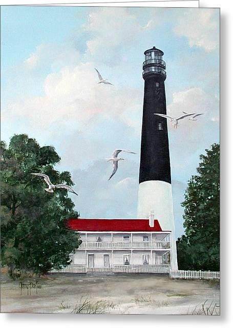 Pensacola Light House Greeting Card