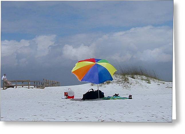 Pensacola Umbrella Greeting Card by Ed Golden