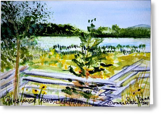 Pensioner Pond In Charleston Vermont Greeting Card