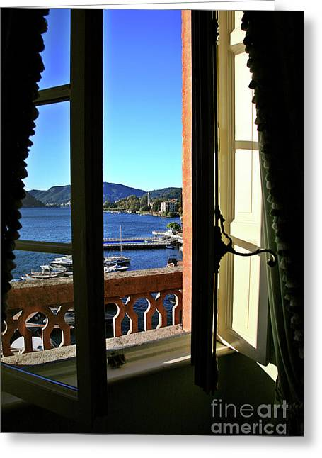 Villa D'este Window Greeting Card