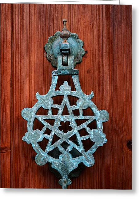Pentagram Knocker Greeting Card