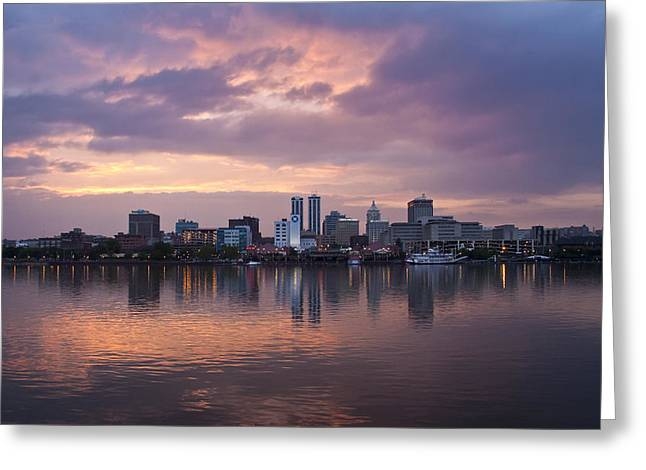 Peoria Skyline Greeting Card by Straublund Photography
