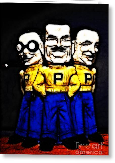 Pep Boys - Manny Moe Jack - Color Sketch Style - 7d17428 Greeting Card by Wingsdomain Art and Photography