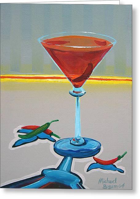 Peppar Martini Greeting Card