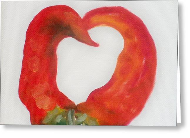 Pepper Heart Greeting Card by Joni McPherson