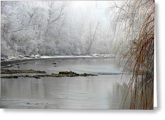 Perch Creek Hoar Frost Greeting Card