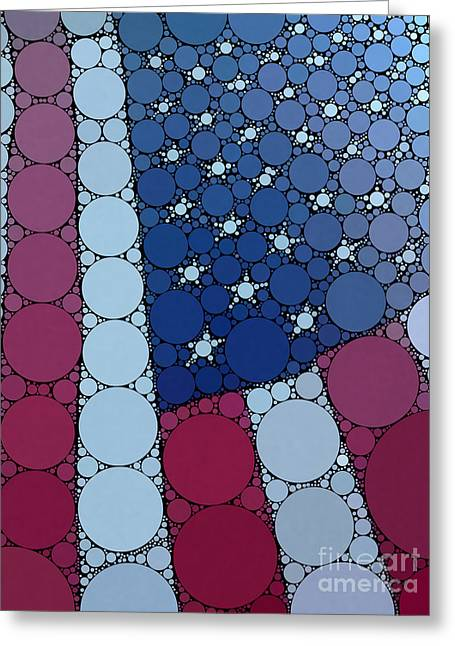 Percolated American Flag Greeting Card by Christine Segalas