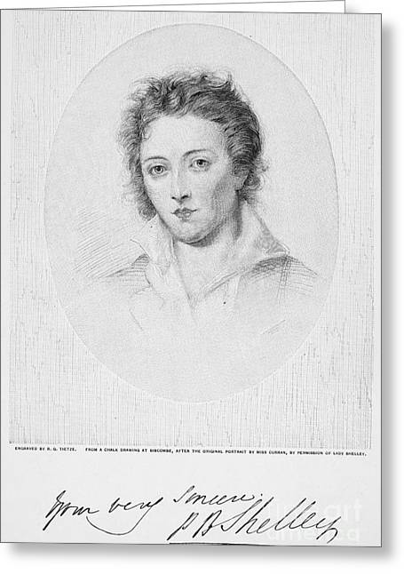 Percy Bysshe Shelley Greeting Card by Granger