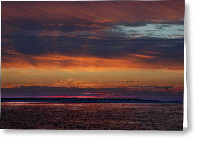 Perdido Pass Red Sunrise Greeting Card by Michael Thomas