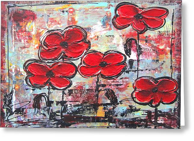 Perfect Poppies Greeting Card