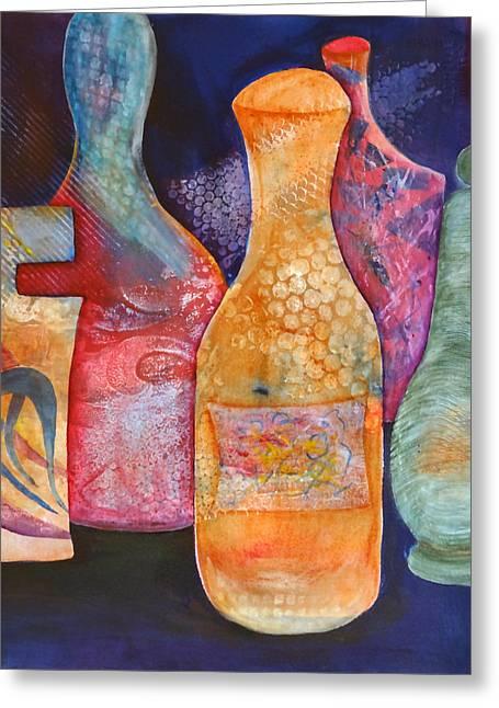 Perfume Bottles 2 Greeting Card