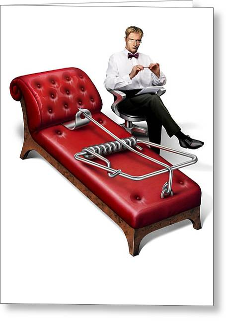 Perils Of Psychotherapy, Conceptual Image Greeting Card by Smetek