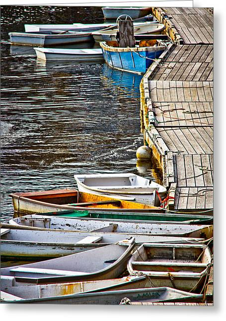 Perkins Cove Greeting Card by Robert Clifford