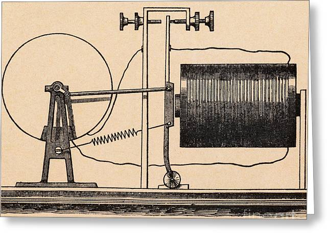 Perpetual Motion Greeting Card by Science Source