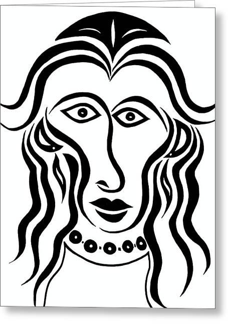 Persephone Greeting Card by Beth Akerman