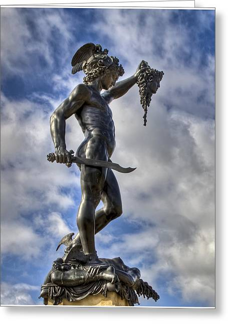 Perseus And Medussa Greeting Card by Nigel Jones
