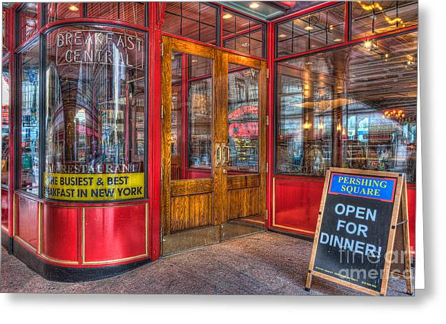Pershing Square Central Cafe IIi Greeting Card by Clarence Holmes