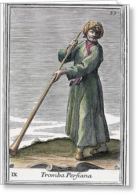Persian Trumpet, 1723 Greeting Card
