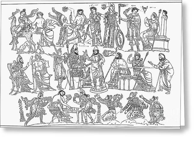 Persian War Council Greeting Card by Granger