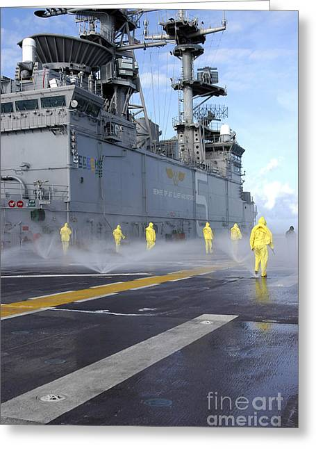 Personnel Conduct Aqueous Film Forming Greeting Card by Stocktrek Images