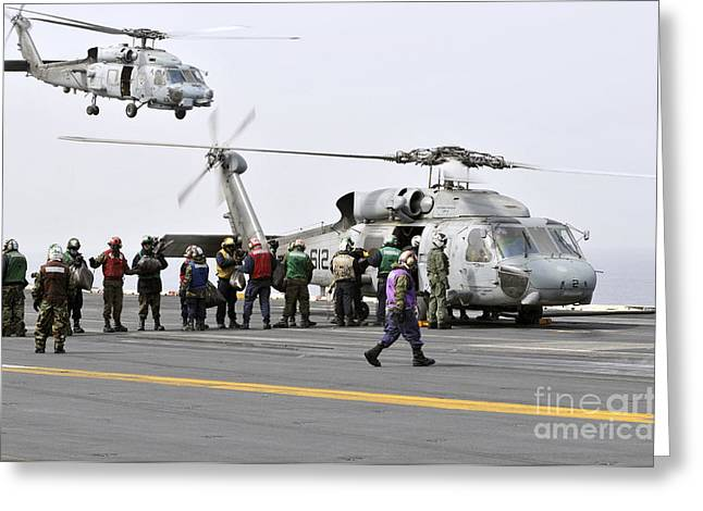 Personnel Load Humanitarian Supplies Greeting Card by Stocktrek Images