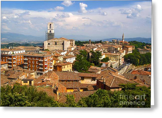 Perugia Italy - 02 Greeting Card by Gregory Dyer
