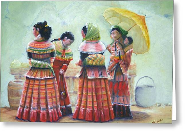 Peruvian Ladies Greeting Card by Catherine Link