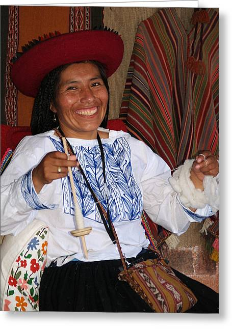 Peruvian Weaver Greeting Card