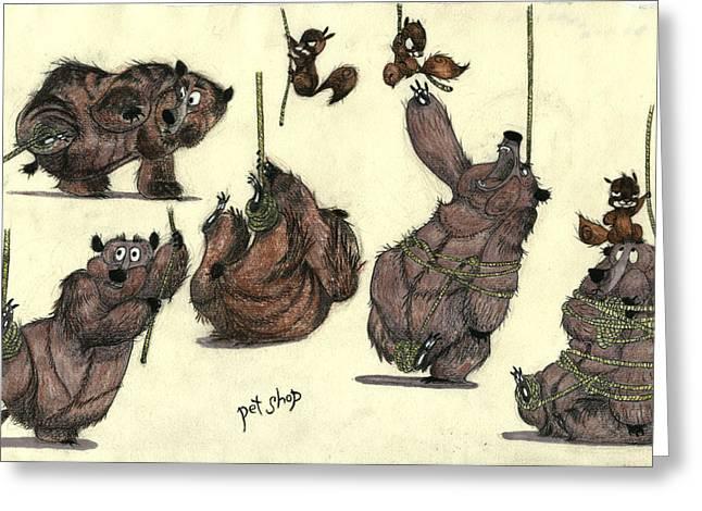 Pet Shop - Bears Greeting Card