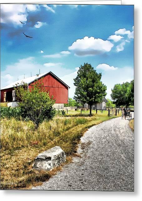 Peter Stuckey Farm Greeting Card by Tom Schmidt