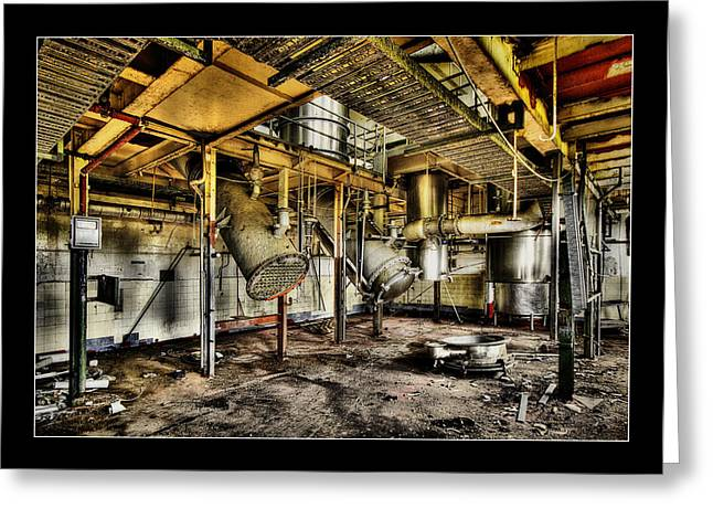 Greeting Card featuring the digital art Peters Factory 03 by Kevin Chippindall