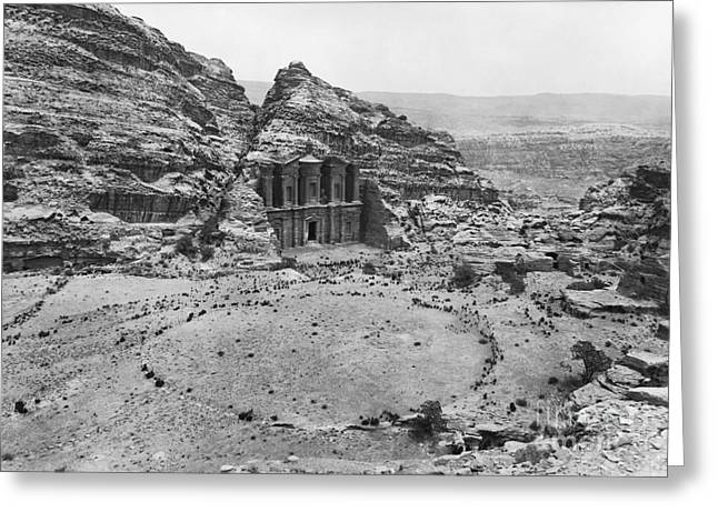 Petra, Jordan Greeting Card by Photo Researchers
