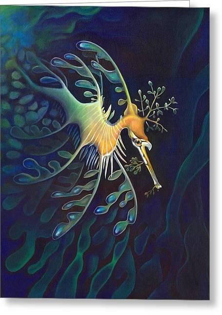 Phantasmagoric Conception Greeting Card by Sym