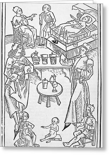 Pharmacy Scenes, 16th Century Greeting Card by