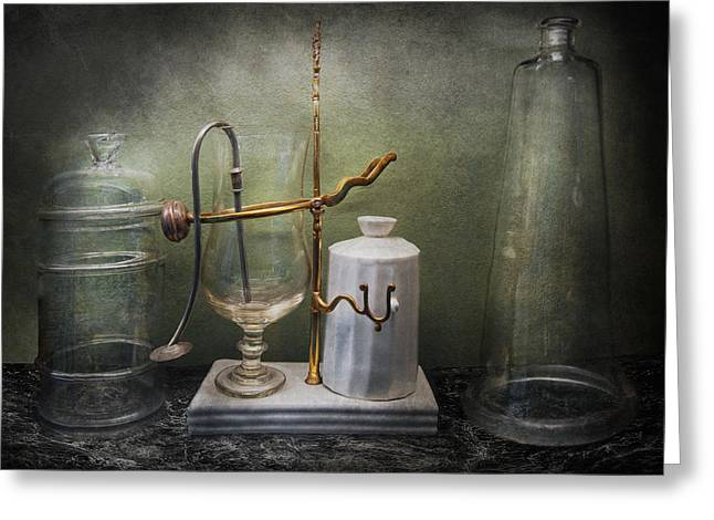 Pharmacy - Victorian Apparatus  Greeting Card by Mike Savad