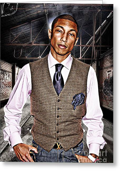 Pharrell Greeting Card by The DigArtisT