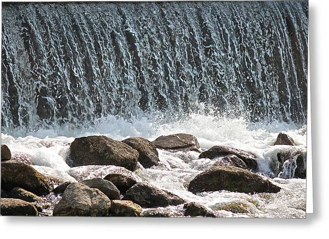 Greeting Card featuring the photograph Phelps Mill Dam by Penny Meyers
