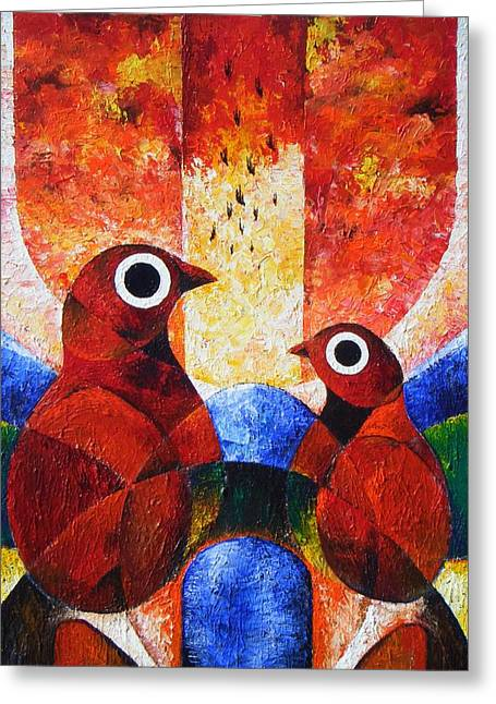 Phenomenon I Greeting Card by Harold Bascom