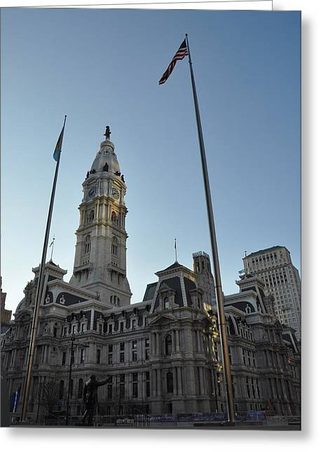 Philadelphia City Hall  Greeting Card by Bill Cannon
