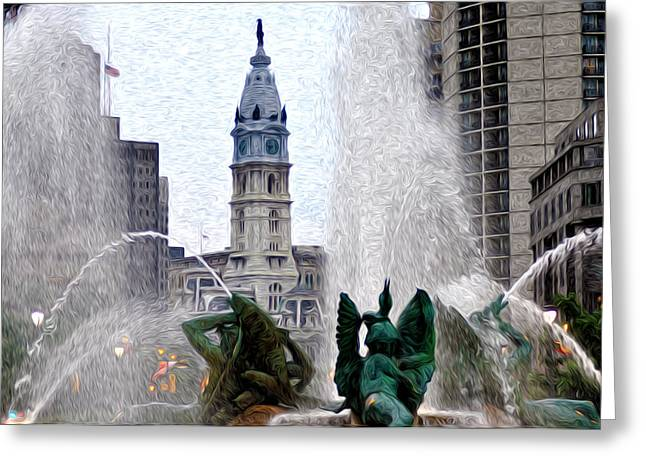 Philadelphia Fountain Greeting Card