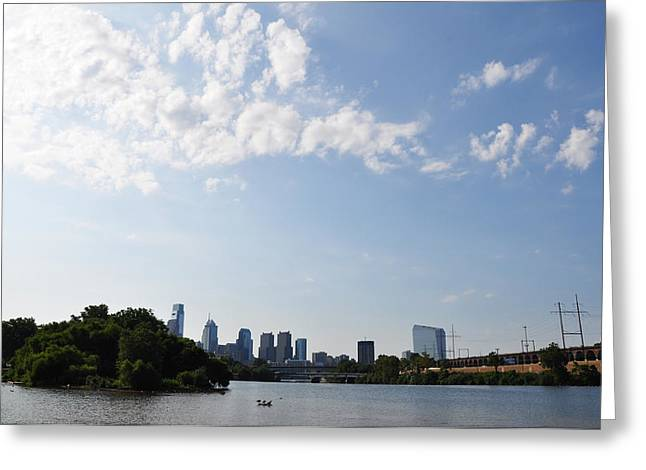 Philadelphia From Kelly Drive Greeting Card by Bill Cannon