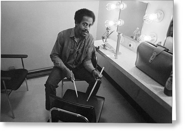 Philip Wilson Drums For Butterfield Blues Band Fillmore East 1968 Greeting Card by Jan W Faul