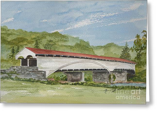 Philippi Covered Bridge  Greeting Card by Nancy Patterson