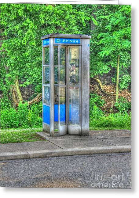 Phone Booth At Eden Park Greeting Card